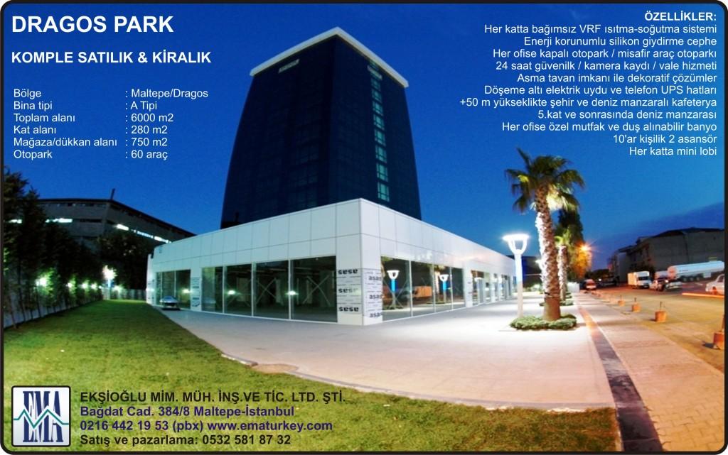 Ekşioğlu İnşaat'tan Komple Satılık veya Kiralık Plaza: Dragos Park