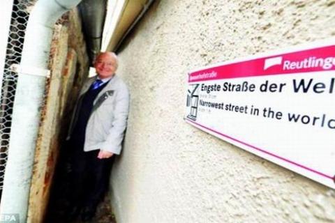"""Spreuerhof Sokak, Dünyanın En Dar S""""okağı!"""