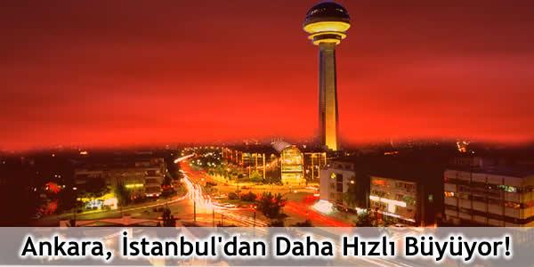 Ankara İstanbul'dan Daha Hızlı Büyüyor!