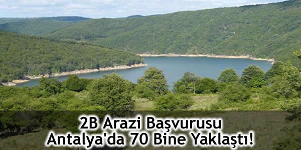 2B Arazi Başvurusu Antalya'da 70 Bine Yaklaştı!