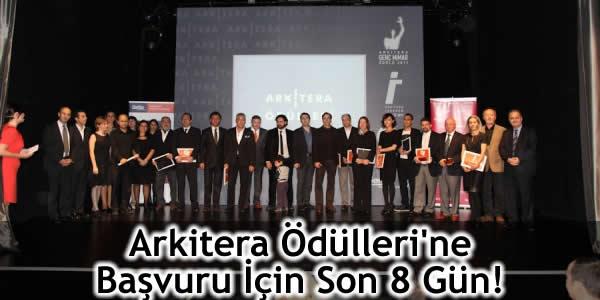Arkitera Ödülleri'ne Başvuru İçin Son 8 Gün!