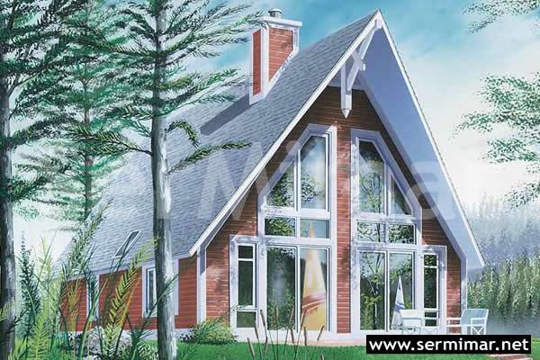 Dik Çatılı Betonarme Çelik Prefabrik Villa Resimleri