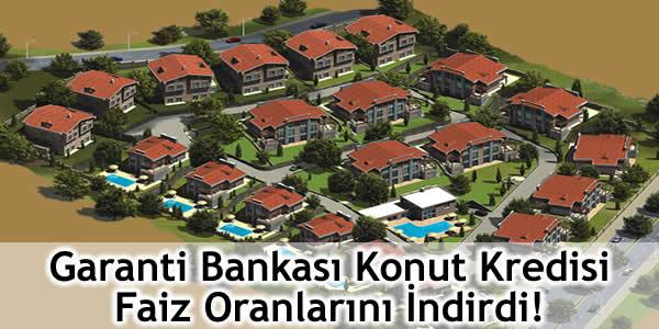 Garanti Bankası, konut kredisi faiz oranları, kredi, mortgage