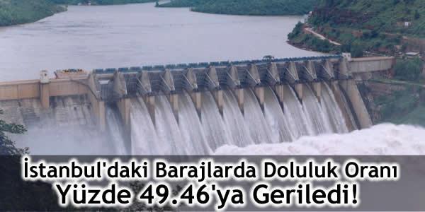 İstanbul'daki Barajlarda Doluluk Oranı Yüzde 49.46'ya Geriledi!