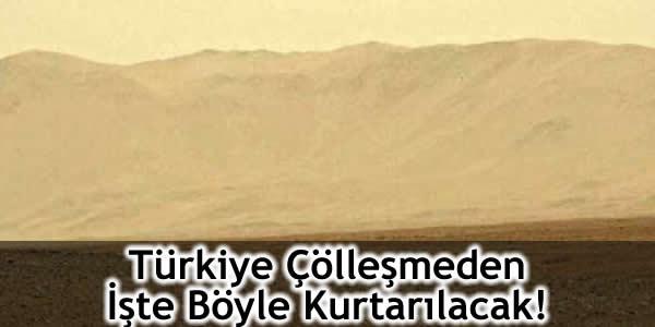 Türkiye Çölleşmeden İşte Böyle Kurtarılacak!