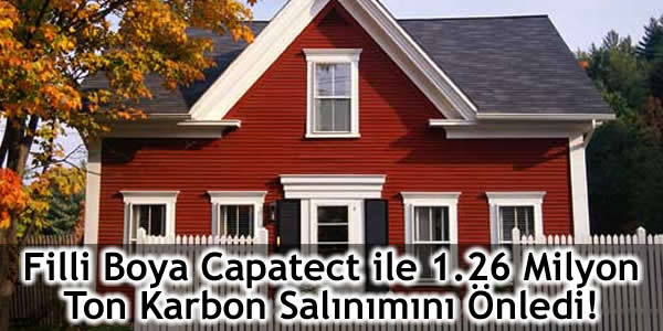 Filli Boya Capatect ile 1.26 Milyon Ton Karbon Salınımını Önledi!
