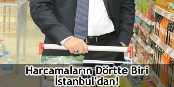 Harcamaların Dörtte Biri İstanbul'dan!