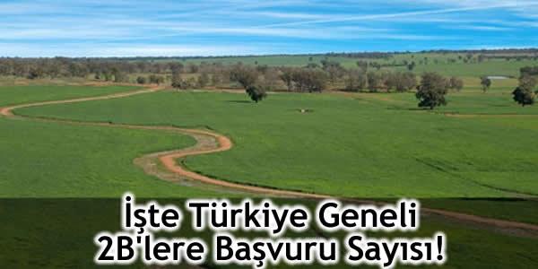 İşte Türkiye Geneli 2B'lere Başvuru Sayısı!