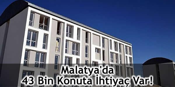 Malatya'da 43 Bin Konuta İhtiyaç Var!