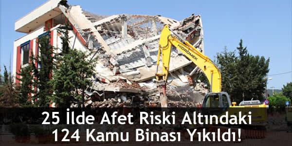 25 İlde Afet Riski Altındaki 124 Kamu Binası Yıkıldı!