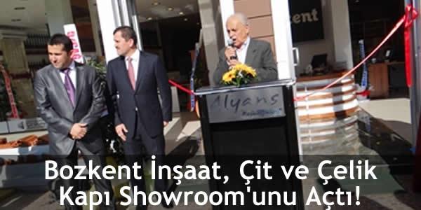 Bozkent İnşaat, Çit ve Çelik Kapı Showroom'unu Açtı!