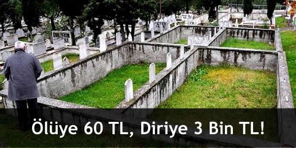 Ölüye 60 TL, Diriye 3 Bin TL!
