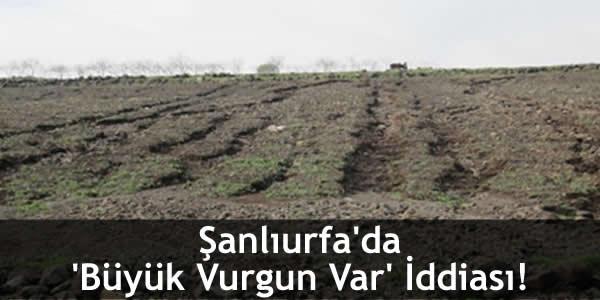 Şanlıurfa'da 'Büyük Vurgun Var' İddiası!