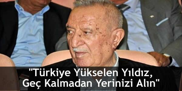 """""""Türkiye Yükselen Yıldız Geç Kalmadan Yerinizi Alın"""""""