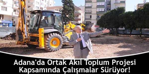 Adana'da Ortak Akıl Toplum Projesi Kapsamında Çalışmalar Sürüyor!
