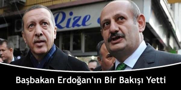 Başbakan Erdoğan'ın Bir Bakışı Yetti