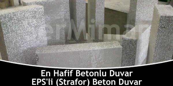 EPS Straforlu Hafif Beton Duvar Blokları