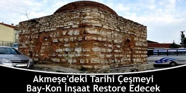 akmesedeki-tarihi-cesmeyi-bay-kon-insaat-restore-edecek
