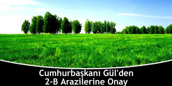Cumhurbaşkanı Gül'den 2-B Arazilerine Onay