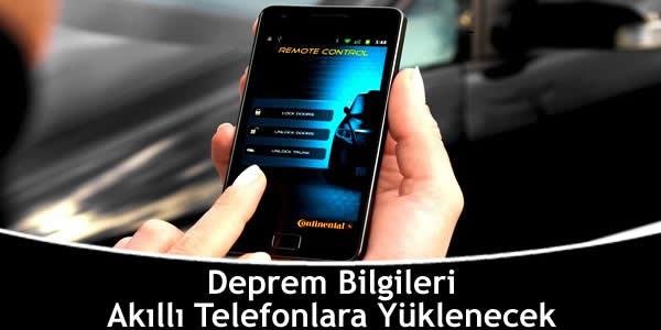 Deprem Bilgileri Akıllı Telefonlara Yüklenecek