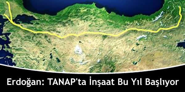 Erdoğan: TANAP'ta İnşaat Bu Yıl Başlıyor
