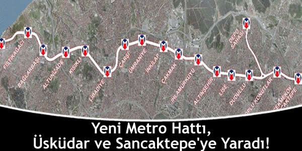 Metro, Üsküdar ve Sancaktepe'ye Yaradı!