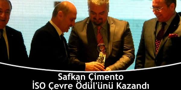 Safkan Çimento İSO Çevre Ödül'ünü Kazandı