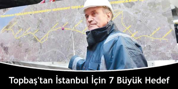 Topbaş'tan İstanbul İçin 7 Büyük Hedef