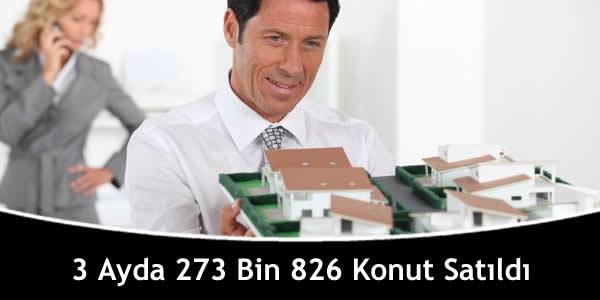 3 Ayda 273 Bin 826 Konut Satıldı