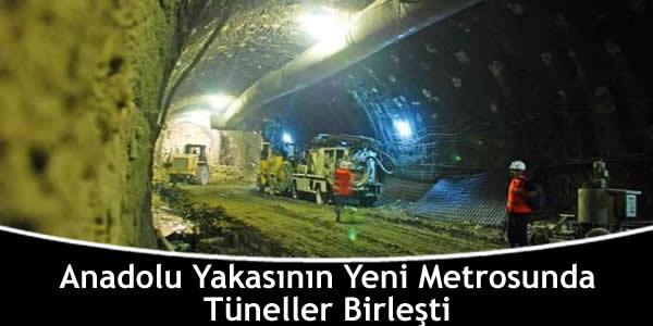 Anadolu Yakasının Yeni Metrosunda Tüneller Birleşti