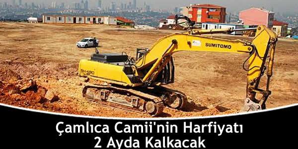 Çamlıca Camii'nin Harfiyatı 2 Ayda Kalkacak