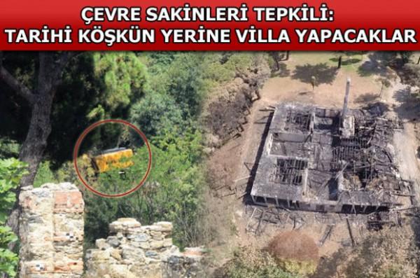 Cengiz İnşaat'ın İş Makineleri Fethi Paşa Korusu'nda