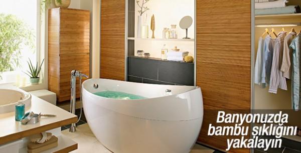 Banyolarda Bambu Şıklığı