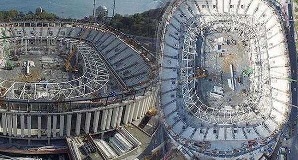 Vodafone Arena'da Çatı Kaldırma İşlemi Başladı!