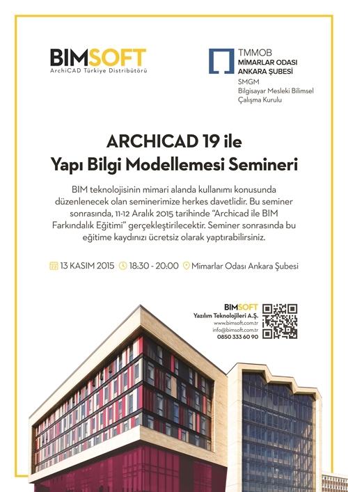 ARCHICAD 19 ile Yapı Bilgi Modellemesi Semineri