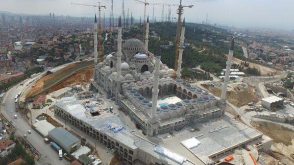 Çamlıca Camisi'nin Kaba İnşaatı Bitti