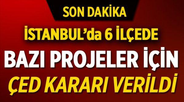 İstanbul'un 6 İlçesinde Projelere ÇED Kararı Verildi