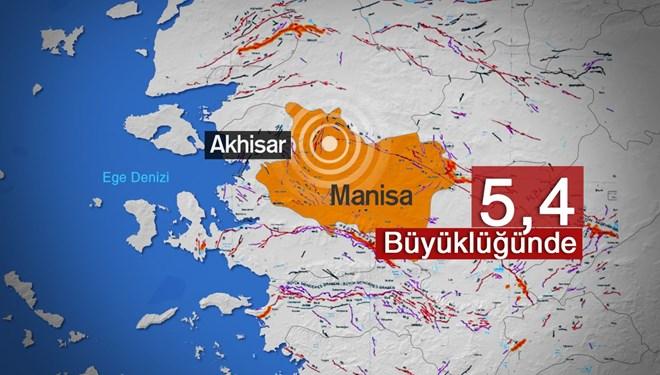 Manisa Akhisar'da 5.4 Büyüklüğünde Deprem