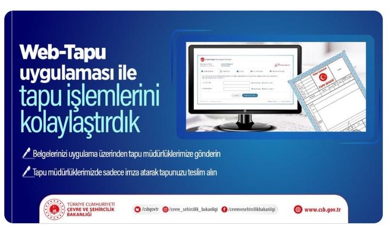 Çevre ve Şehircilik Bakanlığı Koranavirüsü Nedeni İle Web Tapu Uygulaması